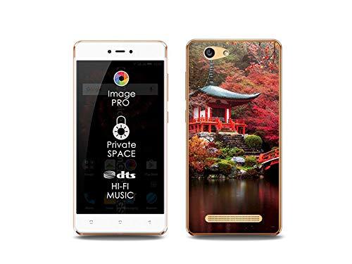 etuo Handyhülle für Allview X3 Soul Lite - Hülle, Silikon, Gummi Schutzhülle Foto Case - Japanischer Garten