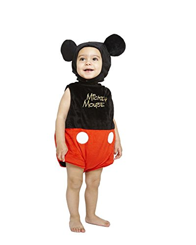 Disney - Tutina per travestimento da Topolino, incl. cappello, 12-18 mesi