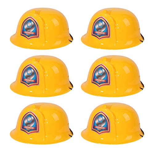NUOBESTY Child Hard Hat - 6 Pack of Construction Hats - Kids Yellow Safety Construction Helmet or Costume