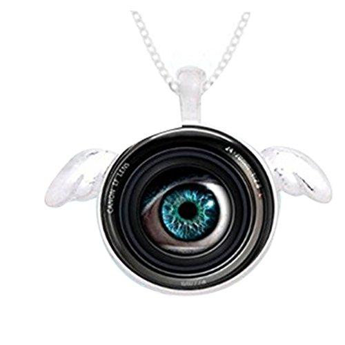 Eye in a Camera Lens Ketting, Engel Ketting, Fotograaf Sieraden Camera, Camera Lens Hanger