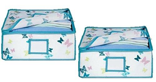 Tchibo 2 aufbewahrungsboxen Schrankbox Schmetterling Unterbettbox