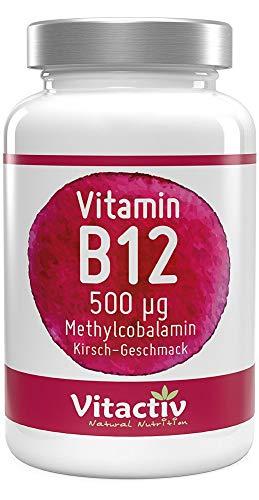 VITAMIN B12 500 mcg, zur Normalisierung des Energiestoffwechsels und Immunsystems, hochwertiges Methylcobalamin, zur Verringerung von Müdigkeit (100 Tabletten)
