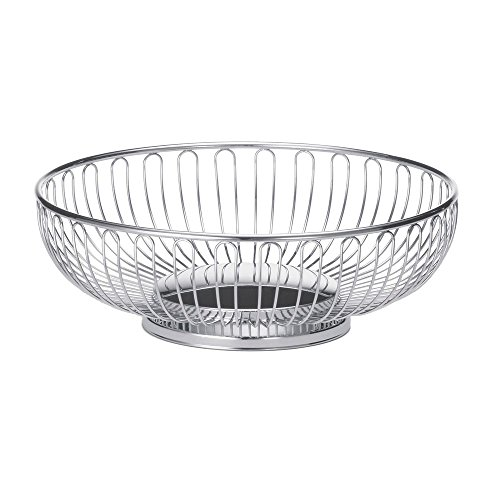 Tablecraft 9 5/8' Round Bread Basket | Metal Fruit Basket | Commerical Quality for Restaurant or Home Use