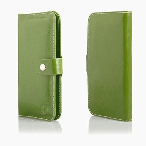 Bookstyle Handytasche Flip Case Wallet geeignet für Acer Liquid Z6 Plus - Handy Schutz Hülle Etui Schale Cover Book Case Portemonnaie grün