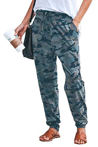 Cocoinsity Damen Beiläufig Sweatpants Camo Hoch Aufgenommen Loslassen Sport Laufend Lounge Hose ArmyGreen M