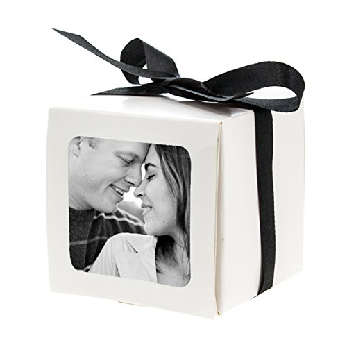 15 cajas de recuerdo de fiesta de la foto de la boda de la tabla de encargo del regalo de la