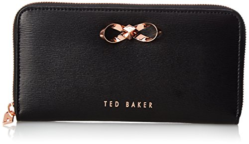 Ted Baker Freesia Bow Zip Around Wallet, Black, One Size
