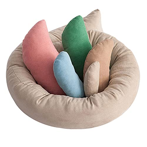 WESTLINK - Juego de 6 pufs para recién nacidos (0-6 meses), multicolor
