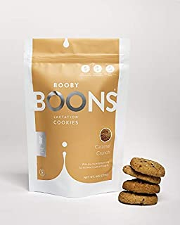 Booby Boons Lactation Cookies, Caramel Crunch, 6oz bag. Award Winning Wheat Free, Soy Free, Lactation Support!
