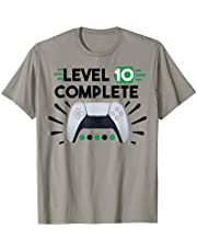 Level 10 Complete Tee PS5 Console Video Gamer 10th Birthday Maglietta