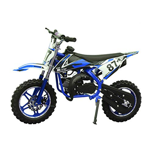 GYZD Dirt Bike 49cc Gas Power Mini Dirt Bike Pit Bike Transmisión Completamente automática,Azul