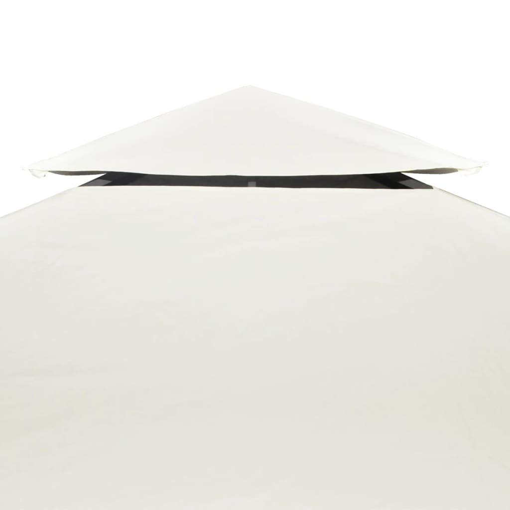 vidaXL Toldo de Cenador de Repuesto Tela Impermeable Blanca 3x3m ...