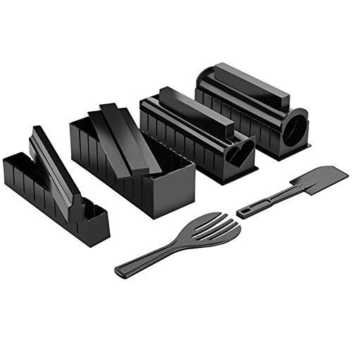 iSpchen Sushi Making Kit 11Pcs / Set, Sushi Maker mit Spatel, Messer, Gabel DIY Sushi Set Einfach zu bedienen, Sushi Rice Roll Mold für Home Kichen Werkzeuge