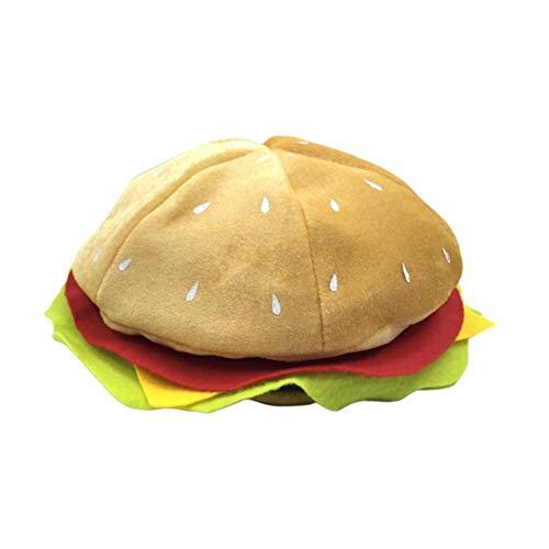Ingeniously Essen Hüte Burger Hüte Halloween Weihnachten Kostüme Parteien Kostüme Kostüme Lustige Hüte Pizza Hamburger Hot Dog Kostüm Party Dress Up (OPP)