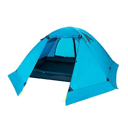 Carpas Frame Ultraligero doble doble capa de aluminio polo anti-tormenta de nieve y tienda de campaña al aire libre del alpinismo que acampa profesional de cuatro estaciones de nieve Carpa para campin