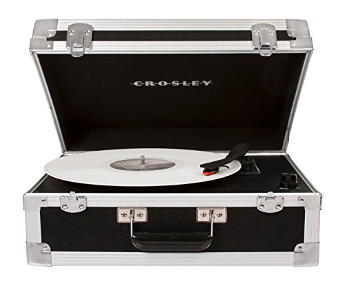 Crosley CR6251A-BK Bound Portable Turntable with Bluetooth Input, Black
