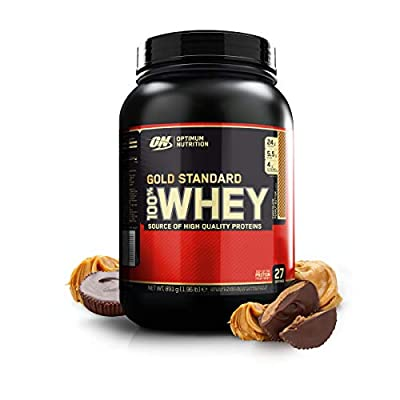 Optimum Nutrition ON Gold Standard Whey Protein Powder Muscle Building Supplements with Glutamine and Amino Acids, Chocolate Peanut Butter, 27 Servings, 900 g