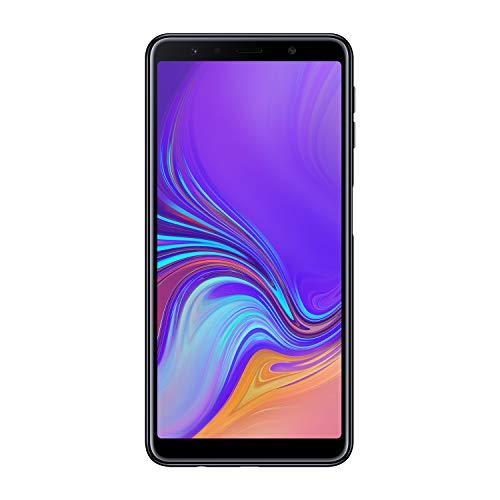 """Samsung Galaxy A7 (2018) Smartphone, Nero (Black), Display 6.0"""" 64 GB Espandibili, Processore Octa Core 2.2 GHz, 1.6 GHz, Dual Sim [Versione Italiana]"""