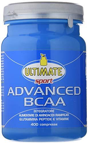 Advanced BCAA - Formula Avanzata  - Aminoacidi Ramificati Nel Rapporto 4:1:1 - Leucina, Isoleucina, Valina, Glutammina Peptide, Vitamina B6  - Maggiore Assimilazione - 400 Compresse - Ultimate Italia