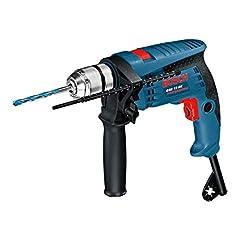 Bosch Professional impact drill GSB 13 RE (600 watt, incl. dieptestop 210 mm, quick-release boorklaver 13 mm, in karton)*