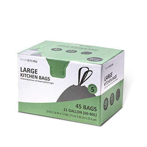 NINESTARS NSTB2145 Trash Bags Large White