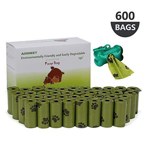 Bolsas Biodegradables para Excrementos, Bolsas de Compost para Perros(600 bolsas), Bolsas para...