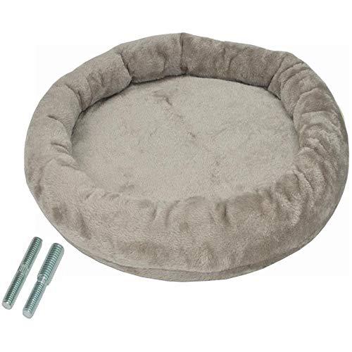 nanook - Liegeplatz, Liegemulde XL - Liegefläche Ø 53 cm - für große Katzen geeignet - für M8 M10 Kratzbäume und Sisalstämme - inkl. Adapterschraube - Farbe: grau