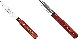 Nogent 3 Etoiles 02000B Couteau Office Lisse Classic Bois & 01210B Eplucheur Classic Bois
