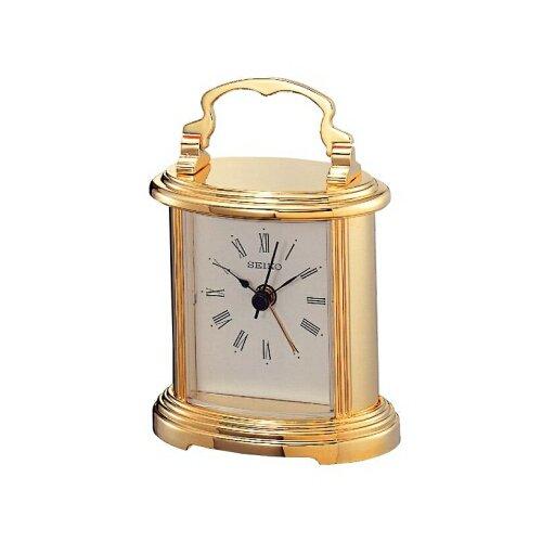 Seiko Tischuhr gold Metall QHE109G