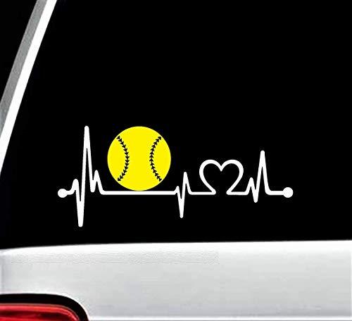 softball window decals - 1