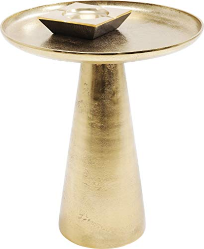 Kare Plateau Uno Brass Side Table, Metal, Gold, 45 x 45 x 52 cm
