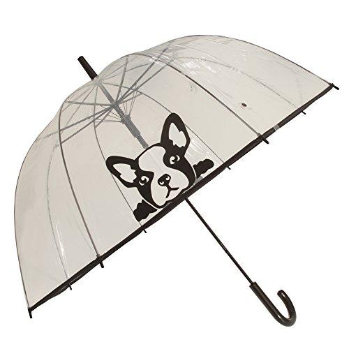 X-brella Womens/Damen Regenschirm Transparent mit Hunde aufdruck. (Einheitsgröße) (Französische Bulldogge)