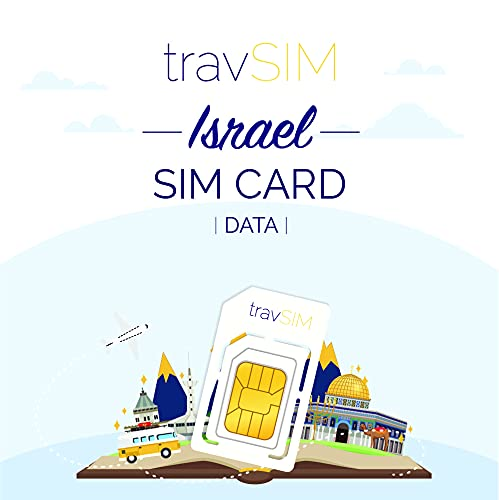 travSIM - Tarjeta SIM Prepaga israelí(SIM de Datos para-Israel) - 7GB de...