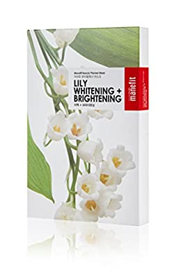 Manefit Box of Beauty Planner 20 ml Lily Whitening and Brightening Mask - Pack of 5 by Imine