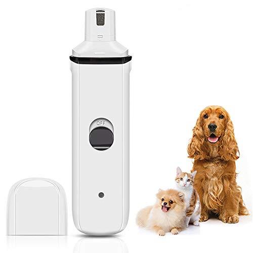 Eastsky Molinillo de uñas para Perro, para Perros, Gatos y Mascotas, Herramienta Profesional de Cuidado de uñas silenciosa y eléctrica