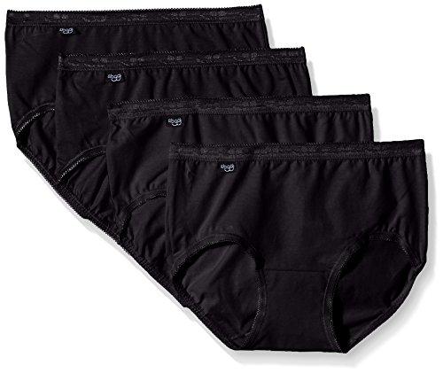Sloggi Damen Bikinislip, 4er Pack, Schwarz (Black 1), Gr.38 (Herstellergröße: 40 FR)