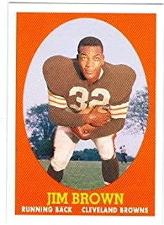 Jim Brown football card (Cleveland Browns The Dirty Dozen star) 2007 Topps #22