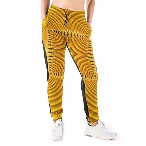 Bettiboy Pantalones deportivos para mujer con bolsillos con cordón y pantalones de yoga, blanco, M