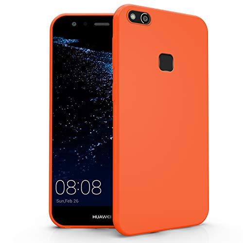 N NEWTOP Cover Compatibile per Huawei P10 Lite, Custodia TPU Soft Gel Silicone Ultra Slim Sottile Flessibile Case Posteriore Protettiva (Arancione)