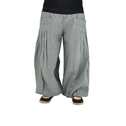virblatt – Yogahose Haremshose Damen Herren Ballonhose Yoga Kleidung - Yogazeit gr/bk
