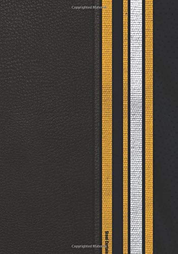 Steel Curtain: Custom made 7x10in planner made for the Steeler fan that wants everything in team colors. Made from colors of the team jersey.   7x10