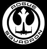 UR Impressions Rogue One Squadron Decal Vinyl Sticker Graphics for Cars Trucks SUV Vans Walls Windows Laptop|White|5.5 inch|URI207