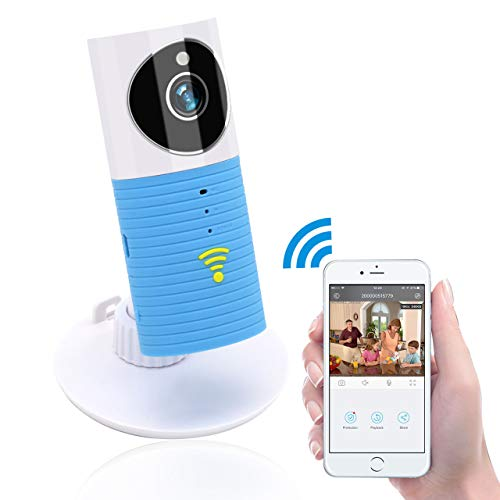 Clever Dog Wireless Security Wifi Cameras /Smart Monitor/Surveillance security camera with P2P, Night Vision, Record Video, Two-way Audio, Motion Detection, Alert message for Smartphone (Blue)