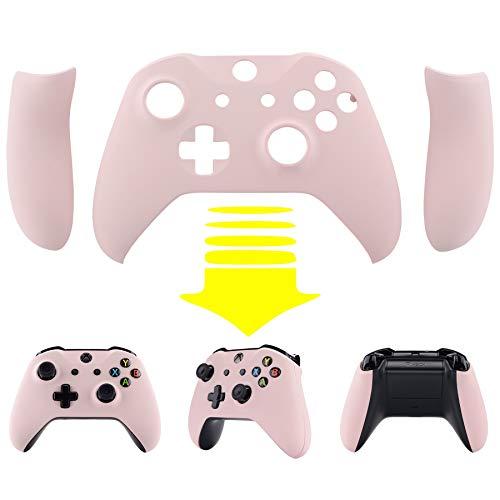 eXtremeRate Gehäuse&Griffe für Xbox One X/S Controller,Gehäuse Hülle Case Griffe Schale Faceplate Ersatzteile für Xbox One S/Xbox One X Controller Modell 1708(Sakura Pink)