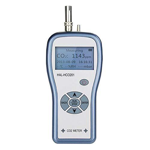 Tragbarer Kohlendioxid-Detektor CO2-Messgerät Gas Tester 500 Datensätze Können Gespeichert Werden USB-Datenübertragung Digital Carbon Dioxide Gas Monitor
