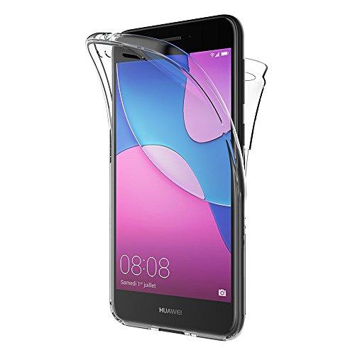 AICEK Huawei Y6 Pro 2017 Hülle, 360°Full Body Transparent Silikon Schutzhülle für Huawei Y6 Pro 2017 Hülle Crystal Clear Durchsichtige TPU Bumper Huawei Y6 Pro 2017 Handyhülle (5,0 Zoll)