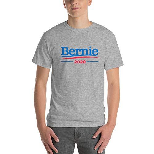 Bernie Sanders 2020 for President Men's Heather Gray Shirts (Medium)