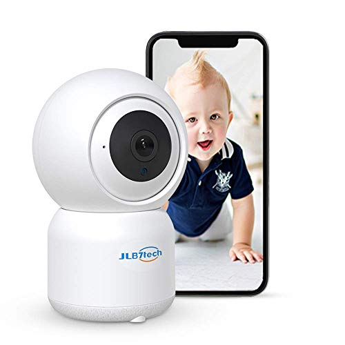 JLB7tech WiFi Baby Monitor,1080P FHD Pan/Tilt/Zoom Remote View Camera with Crying Alerts,Night Vision,2-Way Audio and Sound&Motion Tracking for Baby/Elder/Pet   Compatible with iOS/Android