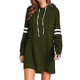 Flying Rabbit Women's Hoodies Sweatshirt Pullover Sweaters Long Sleeve Pullover Jumper Long Tops Pullover Dress Sweatshirt