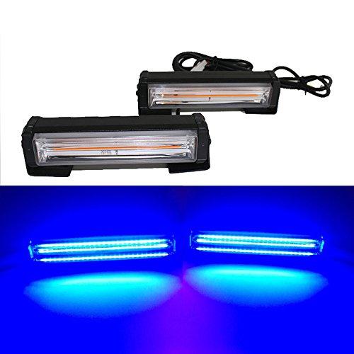 Led Blitzer, HEHEMM Stroboskop Blitzer 36W COB Frontblitzer Warnlicht Externes Blitzlicht Blinkende Lampe Autodach Licht Notlicht für LKWs Auto Auto 12V-24V (Blau)
